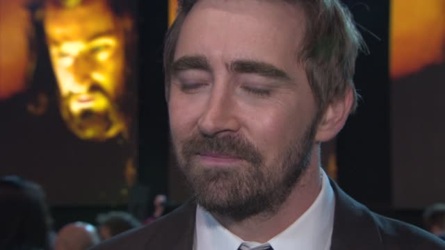 lee pace on the film, seeing everyone at the premiere, the friendships made on set, meeting the fans at 'the hobbit: the battle of the five armies'... - the hobbit: the battle of the five armies stock videos & royalty-free footage