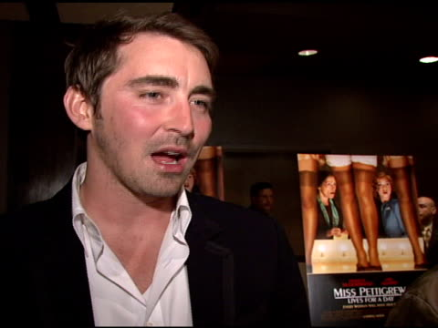 Lee Pace talks about his character how oldfashioned and romantic he is about singing and playing piano in the movie how he was nervous and still only...