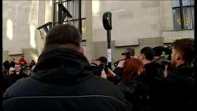 michael adebolajo and michael adebowale sentenced various shots people holding hangman noose's outside court photography*** various shots family... - hangman stock videos and b-roll footage