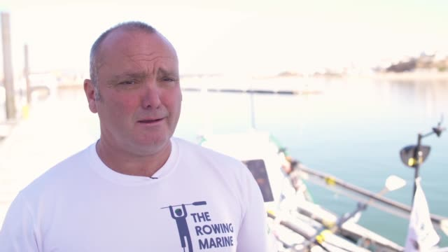 interview lee spencer on what it will take to row the atlantic ocean at a disabled marine to row solo and unsupported from europe to america on... - ウォータースポーツ点の映像素材/bロール
