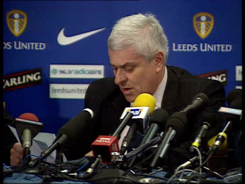 Leeds board meet to discuss relegation LIB Peter Ridsdale press conference SOT We lived the dream/ Only by making the right decisions today can we...