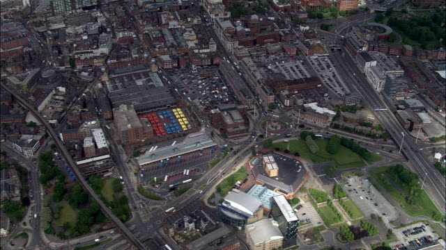 Leeds City Markets  - Aerial View - England, Leeds, United Kingdom