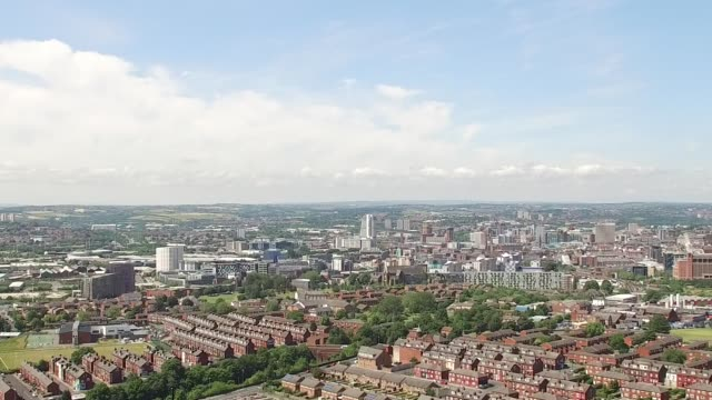 Leeds City Skyline Aerial Shot from Eastern Suburbs 2