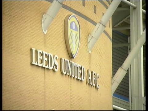stockvideo's en b-roll-footage met leeds footballers trial continues lib leeds gvs entrance to leeds united football ground - leeds