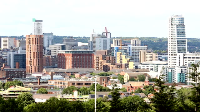 leeds seen from the south of the city - leeds stock videos & royalty-free footage