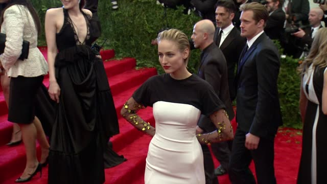 Leelee Sobieski at PUNK Chaos To Couture Costume Institute Gala at Metropolitan Museum of Art on May 06 2013 in New York New York