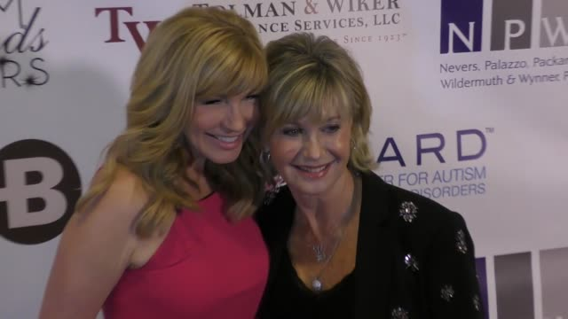 leeza gibbons olivia newton john at the 12th annual denim diamonds and stars on october 22 2017 in westlake village california - westlake village california stock videos & royalty-free footage