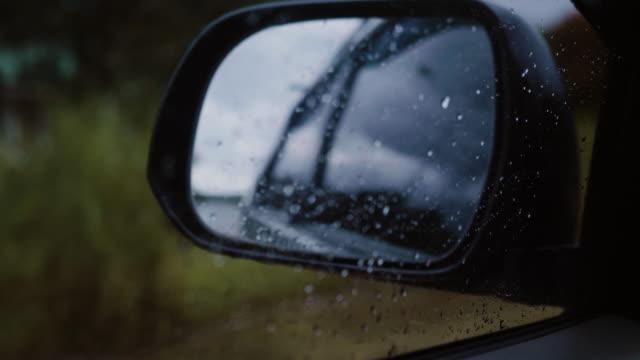 Linken Spiegel Regentag