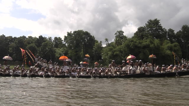 left pan snake boat racing kottunad kerala - nautical vessel stock videos & royalty-free footage