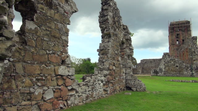 left to right of panama city ruins shot - imperfection stock videos & royalty-free footage
