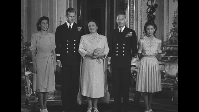 princess elizabeth prince philip queen mother elizabeth king george vi princess margaret / note exact year not known - princess margaret 1950 stock videos and b-roll footage