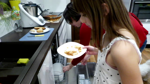 leftovers go to the bin - dishwasher stock videos & royalty-free footage