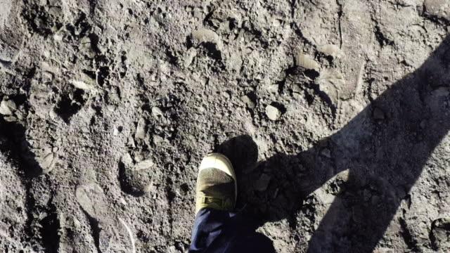 ms leg man walk on desert in bromo tengger semeru national park, east java, indonesia - bromo tengger semeru national park stock videos & royalty-free footage