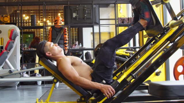 leg press exercise - leg press stock videos & royalty-free footage