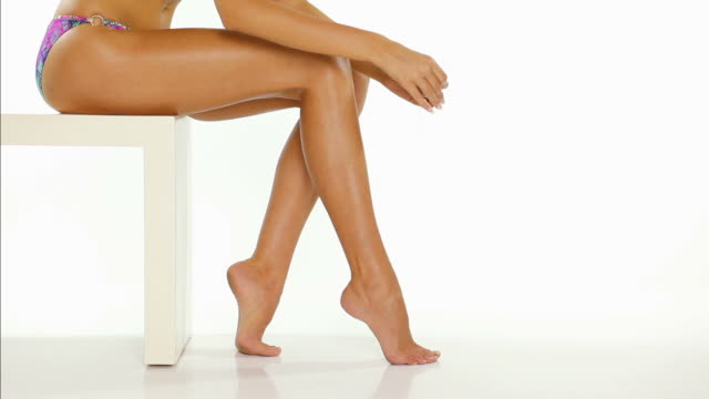 hd: leg waxing - swimwear stock videos & royalty-free footage