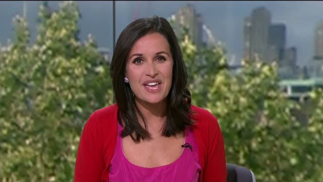 legacy of the london 2012 olympics; england: london: gir: int reporter to camera - ニナ・ホサイン点の映像素材/bロール