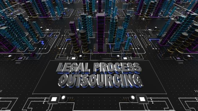 Legal Process Outsourcing Concept 3D Animation
