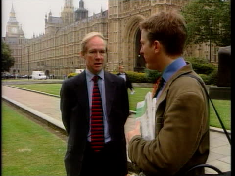 westminster peter lilley mp along with king lilley king 2 shot peter lilley mp interview sot the present law is clearly unenforcable / it is... - war in afghanistan: 2001 present stock-videos und b-roll-filmmaterial