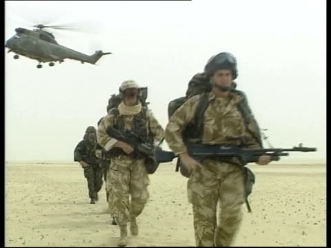legality of iraq war questioned lib british forces before invasion of iraq london int tony blair mp press conference sot never any question of us... - iraq stock videos & royalty-free footage