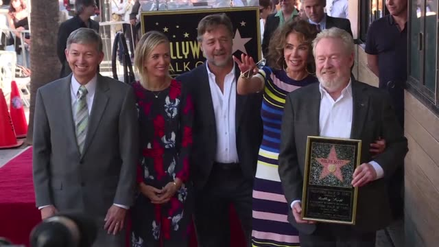 Legendary British director Ridley Scott famous for Alien Gladiator Blade Runner and The Martian among others received his own star on Hollywoods Walk...