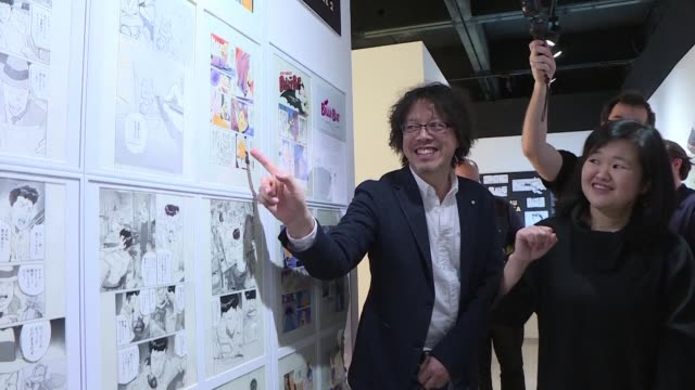 legendary manga artist naoki urasawa after receiving a lifetime achievement award at the comic book and graphic novel festival in angouleme france is... - artist stock videos & royalty-free footage