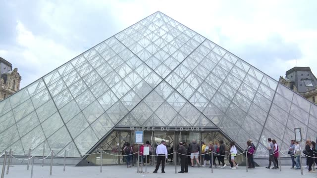 FRA: Louvre staff pays tribute to modernist architect I.M Pei