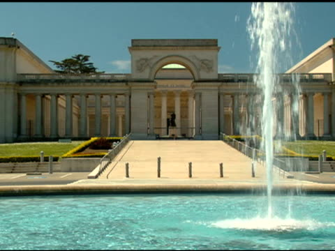 stockvideo's en b-roll-footage met legion of honor museum - san francisco - quarter