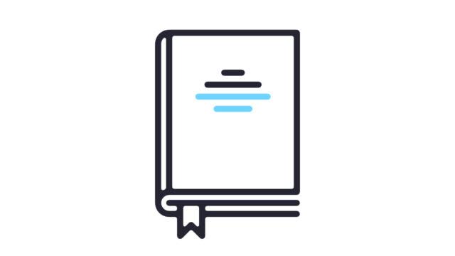 Legislations Line Icon Animation with Alpha