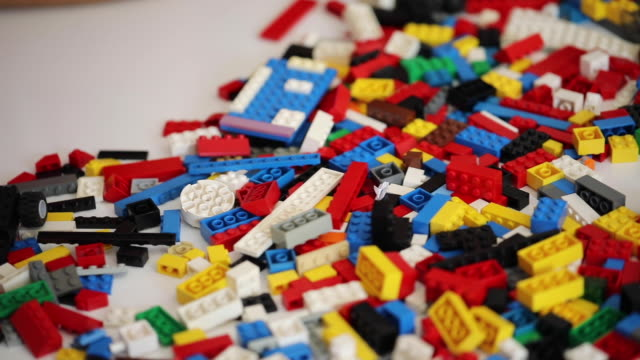 lego toy bricks - material stock videos & royalty-free footage