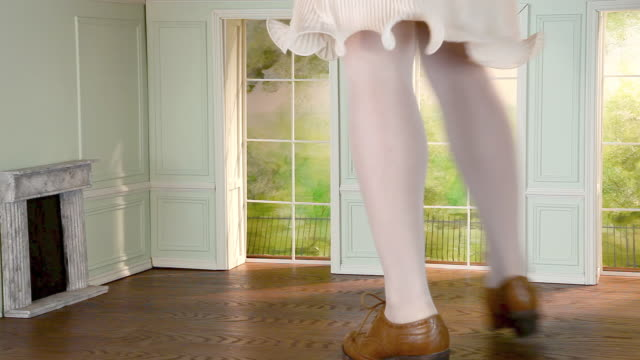 legs of giant woman in small house - tights stock videos & royalty-free footage