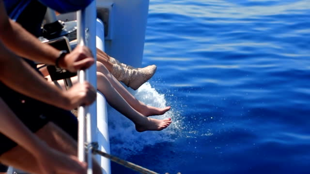 legs on a boat - human toe stock videos and b-roll footage