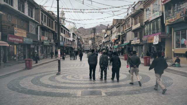 leh city walking street - traditionally tibetan stock videos & royalty-free footage