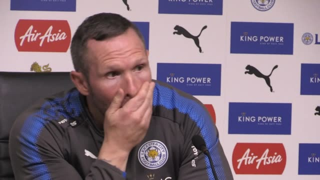 Leicester caretaker manager Michael Appleton gives a press conference ahead of the team's Premier League clash with Swansea