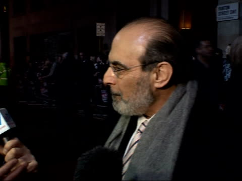 Leicester Square film premiere of 'The Bank Job' David Suchet interview SOT Talks about his character in 'The Bank Job' / About remembering the...