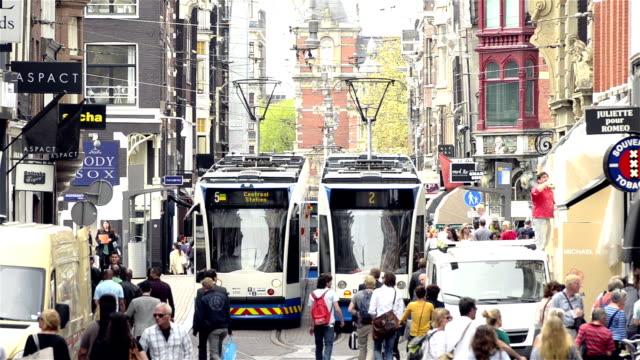 Leidsestraat shopping street Amsterdam city center