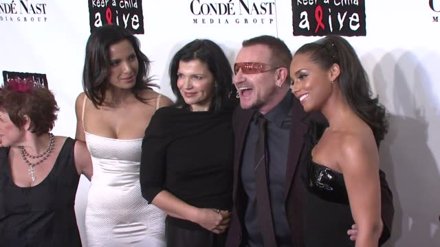 Leigh Blake Padma Lakshmi Bono and Alicia Keys and guest at the Conde Nast Media Group Presents the 4th Annual 'Black Ball' Concert for 'Keep A Child...
