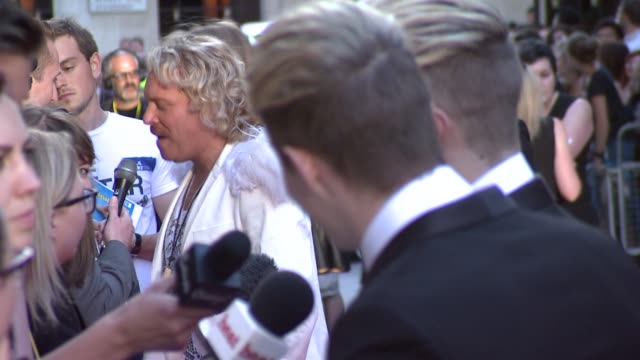 leigh francis aka keith lemon jedward at keith lemon the film uk premiere at odeon leicester square on august 20 2012 in london england - jedward stock videos and b-roll footage