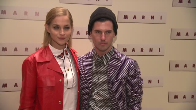 leigh lezark and geordon nicol at marni fragrance launch at tbd on february 05 2013 in new york new york - marni stock videos & royalty-free footage