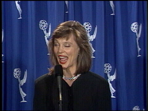 leigh tayloryoung at the 1994 emmy awards press room at the pasadena civic auditorium in pasadena california on september 11 1994 - pasadena civic auditorium stock videos & royalty-free footage