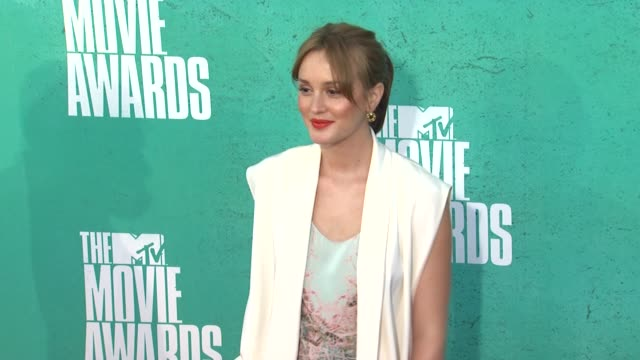 leighton meester at 2012 mtv movie awards - arrivals at gibson amphitheatre on june 03, 2012 in universal city, california - gibson amphitheatre stock-videos und b-roll-filmmaterial