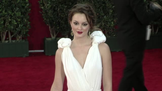 leighton meester at the 61st annual primetime emmy awards - arrivals part 4 at los angeles ca. - ceremony stock videos & royalty-free footage
