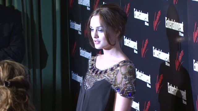 Leighton Meester at the Entertainment Weekly/Vavoom Upfront Party at the Bowery Hotel in New York New York on May 13 2008