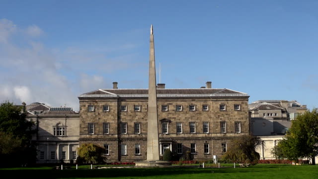 leinster house - dublin, republic of ireland - dublin republic of ireland stock videos & royalty-free footage