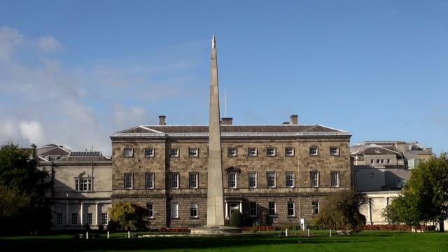 leinster house - dublin, republic of ireland - dublin republic of ireland stock videos & royalty-free footage