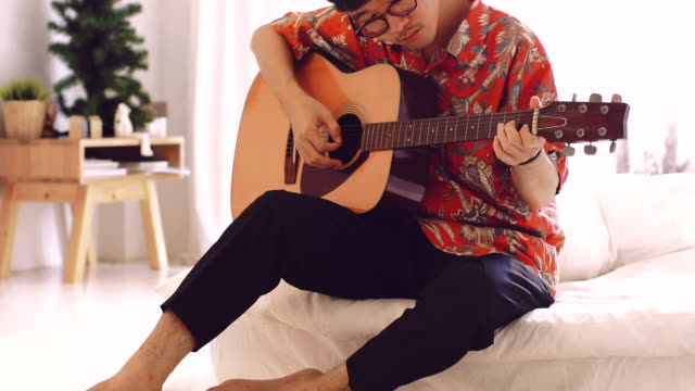 leisure at home cinemagraphs - musician stock videos & royalty-free footage