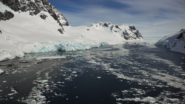 lemaire channel, antarctica - antarctica drone stock videos & royalty-free footage