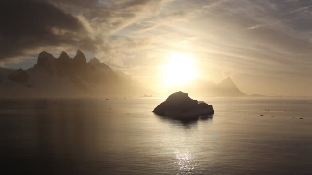 stockvideo's en b-roll-footage met lemarie channel sunset - zuidelijk halfrond