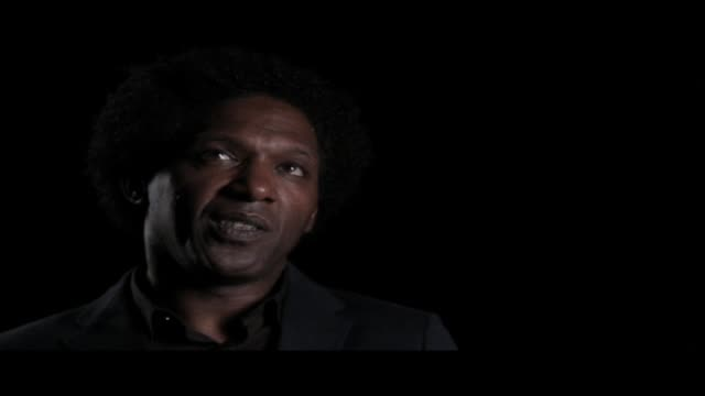lemn sissay—author, broadcaster and playwright—is interviewed at world book night. in this clip he discusses the greatest pleasure he gets from... - 脚本家点の映像素材/bロール
