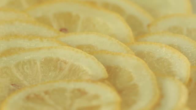 Lemon slices sprinkled with sugar