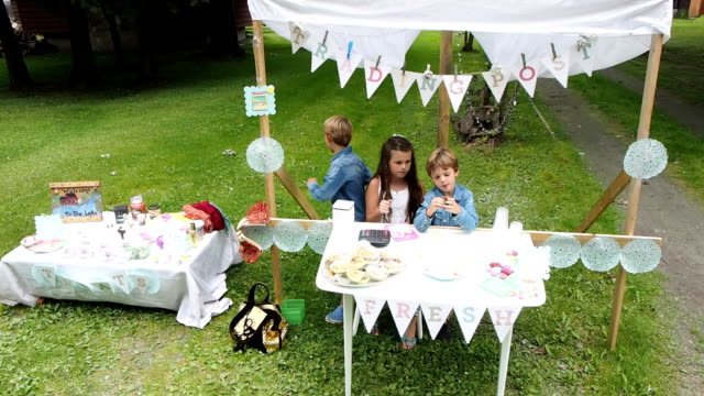 lemonade stand - selling stock videos and b-roll footage